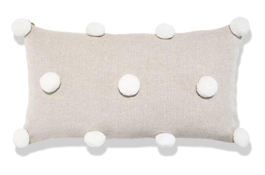 Pompom Lumbar Pillow