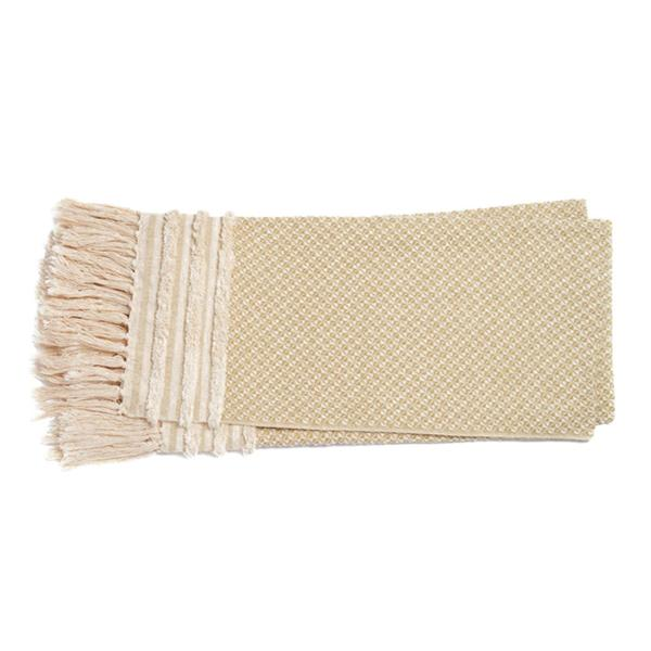Frankie Gold Ivory Throw from Ottawa furniture store LD Shoppe