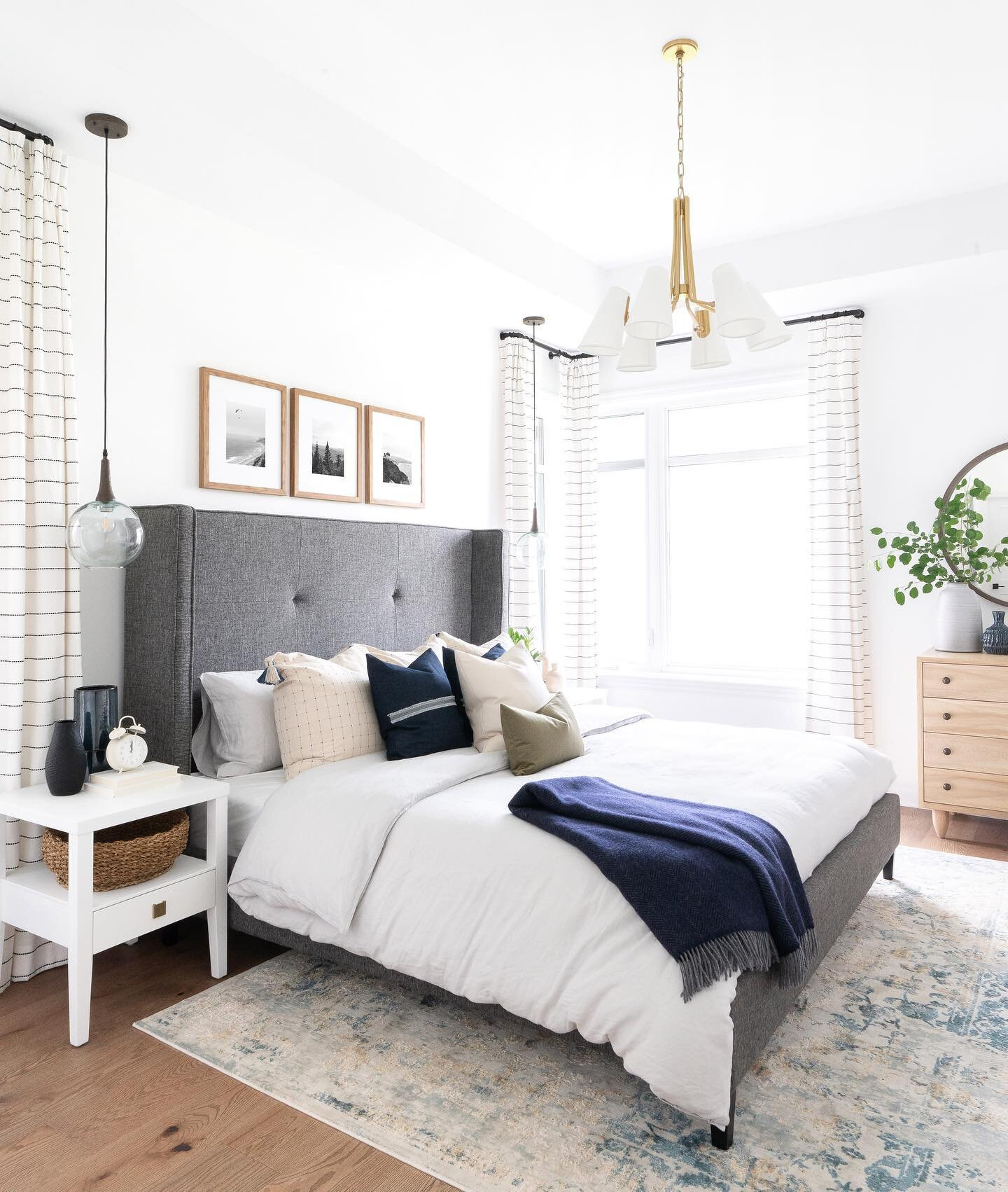 Serene and sunny master bedroom