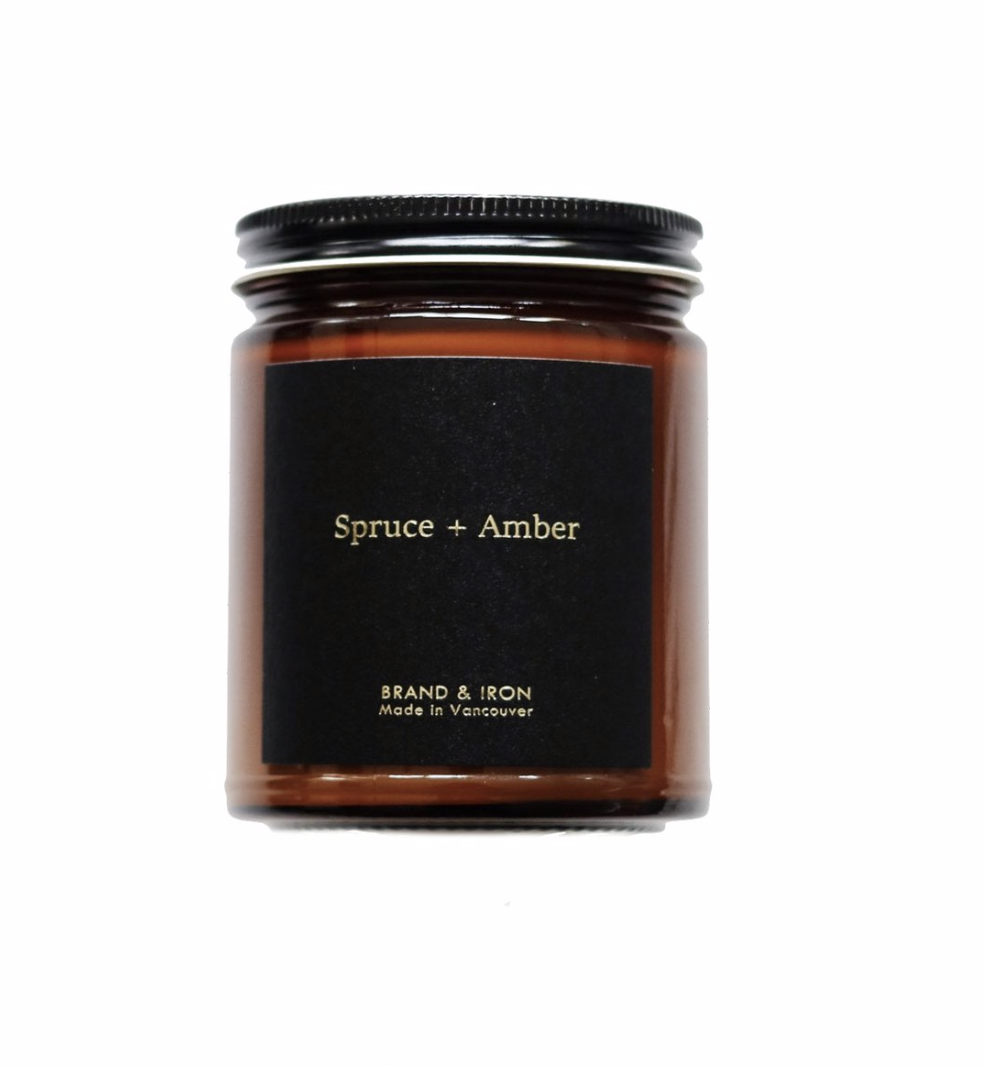 Spruce and Amber Candle