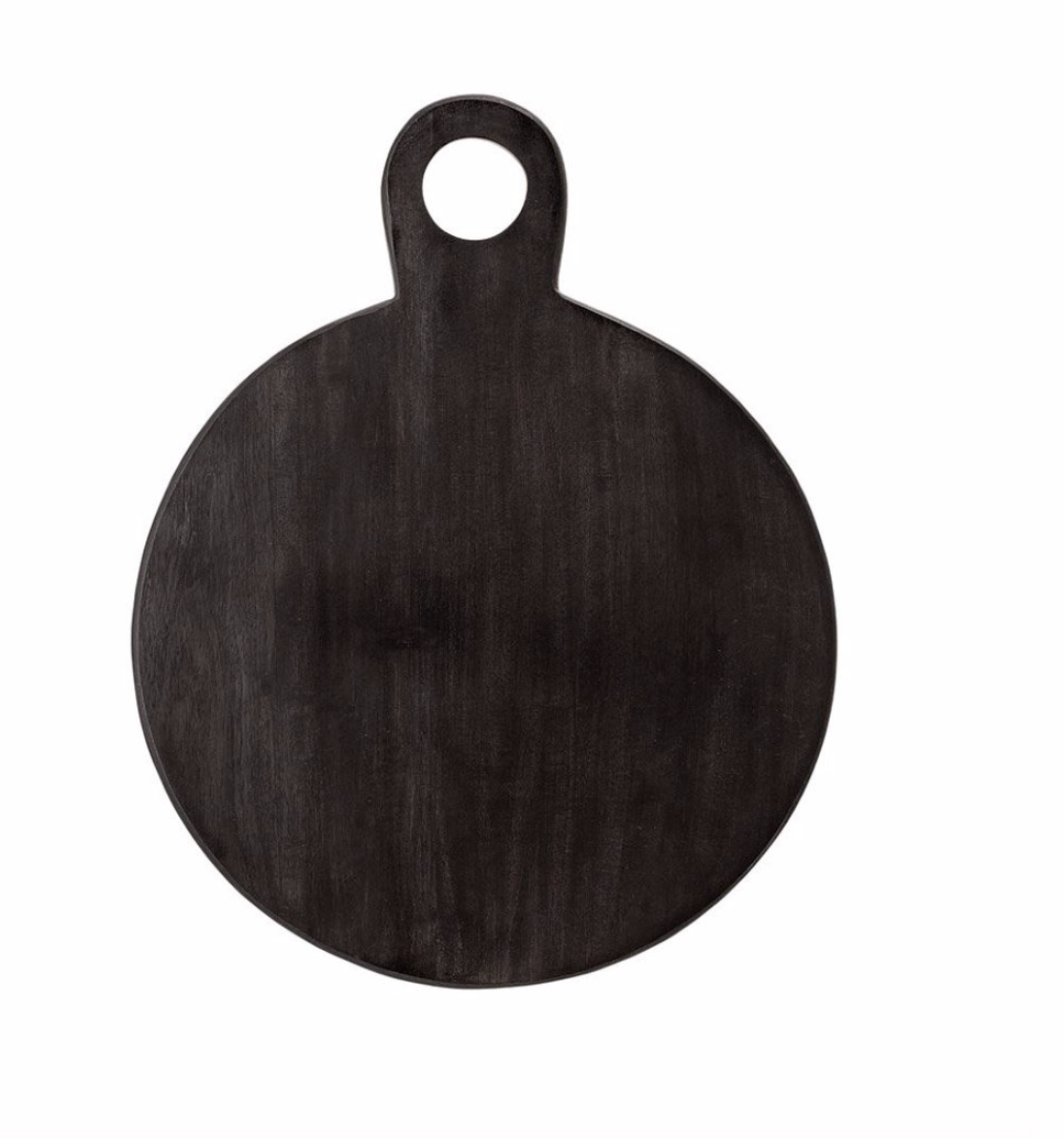 Black Acacia Round Serving