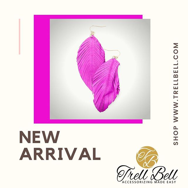 New Arrival Alert!  Trell Bell is now offering leather earrings that will compliment any outfit. Click on link on bio to shop👛  #_trellbell #Retailshop #clutches #accessorzingmadeasy #blackgirlmagic #smallbusiness #jewelry #earrings