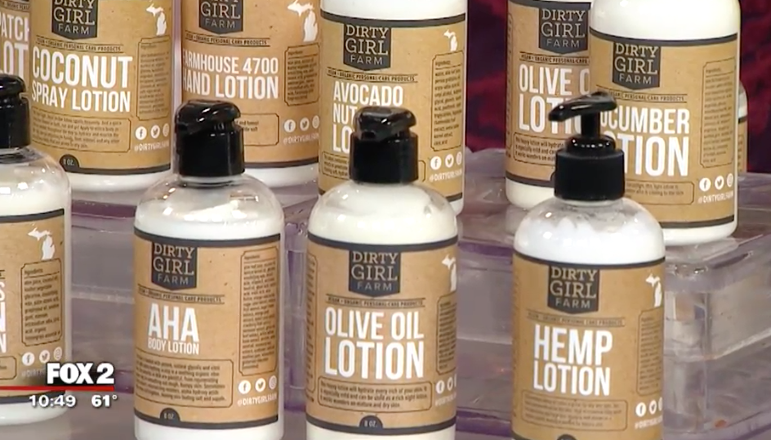 Dirty Girl Farm's plant-based lotions help skin recover from sun exposure.