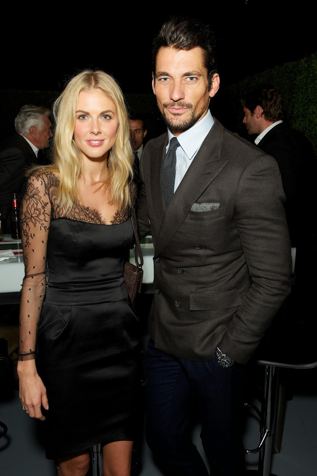 David Gandy debut of the 2015 Jaguar F-TYPE R Coupe 2013 LA (15) with Donna Air.jpg