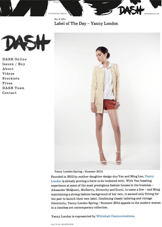 Dash Magaine Label of the day 9th May 2014.jpg