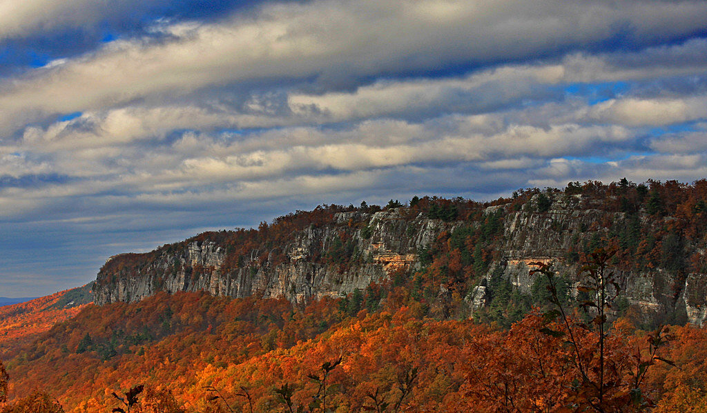 The Shawangunk mountains—we are headed here for our wilderness trip.
