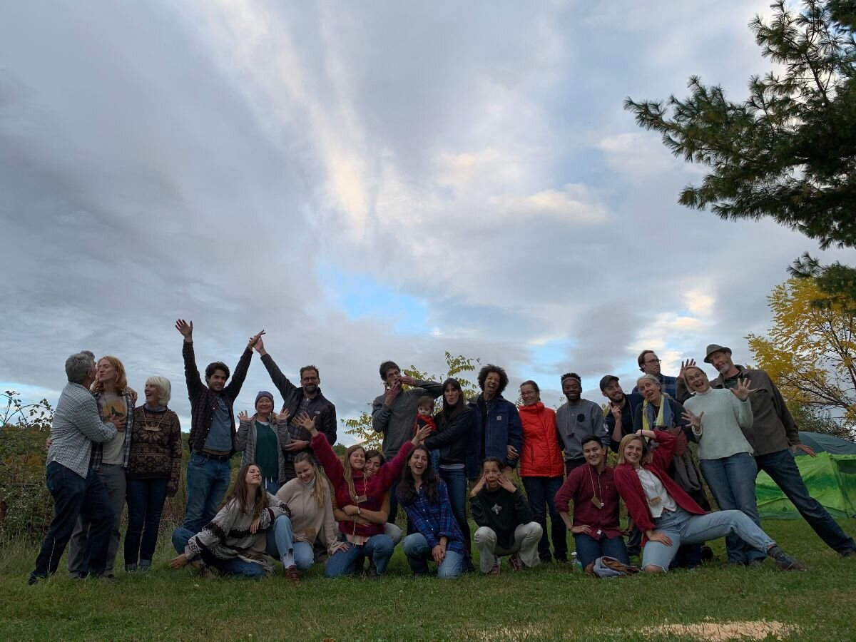 Cohort 2019 with friends and family celebrating the joy of being together at Place Corps.