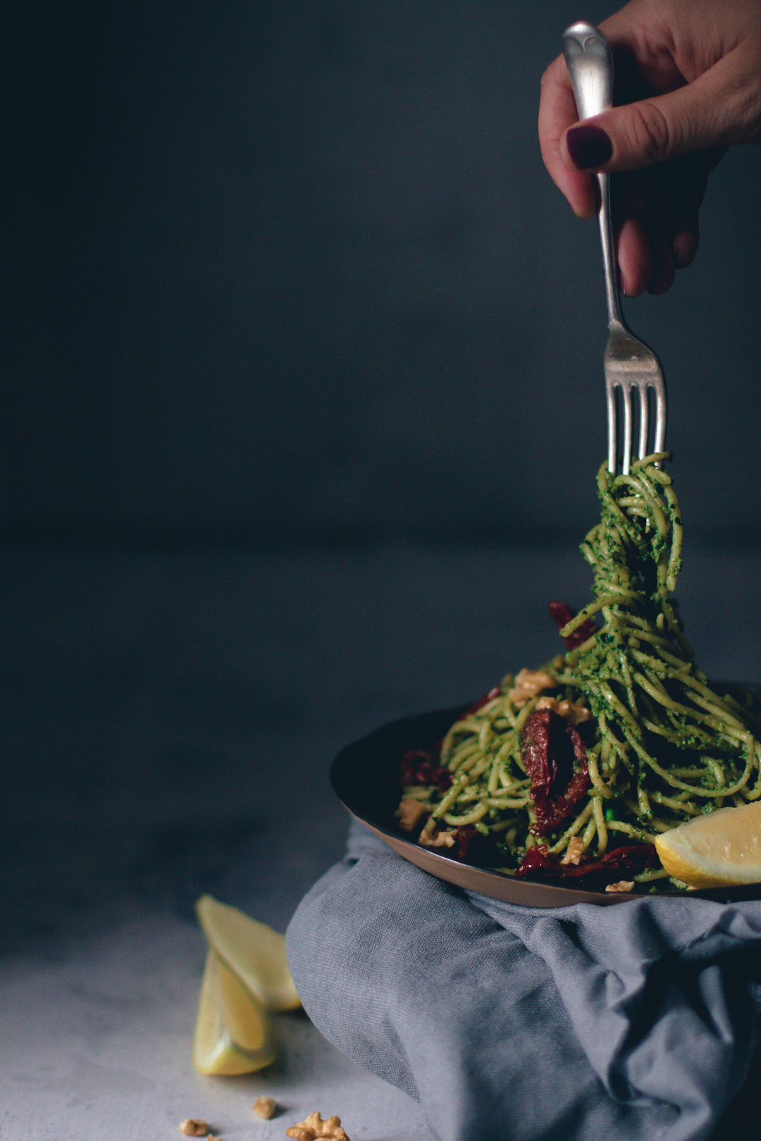 walnut spinach pesto spaghetti - wee scottish whisk.jpg