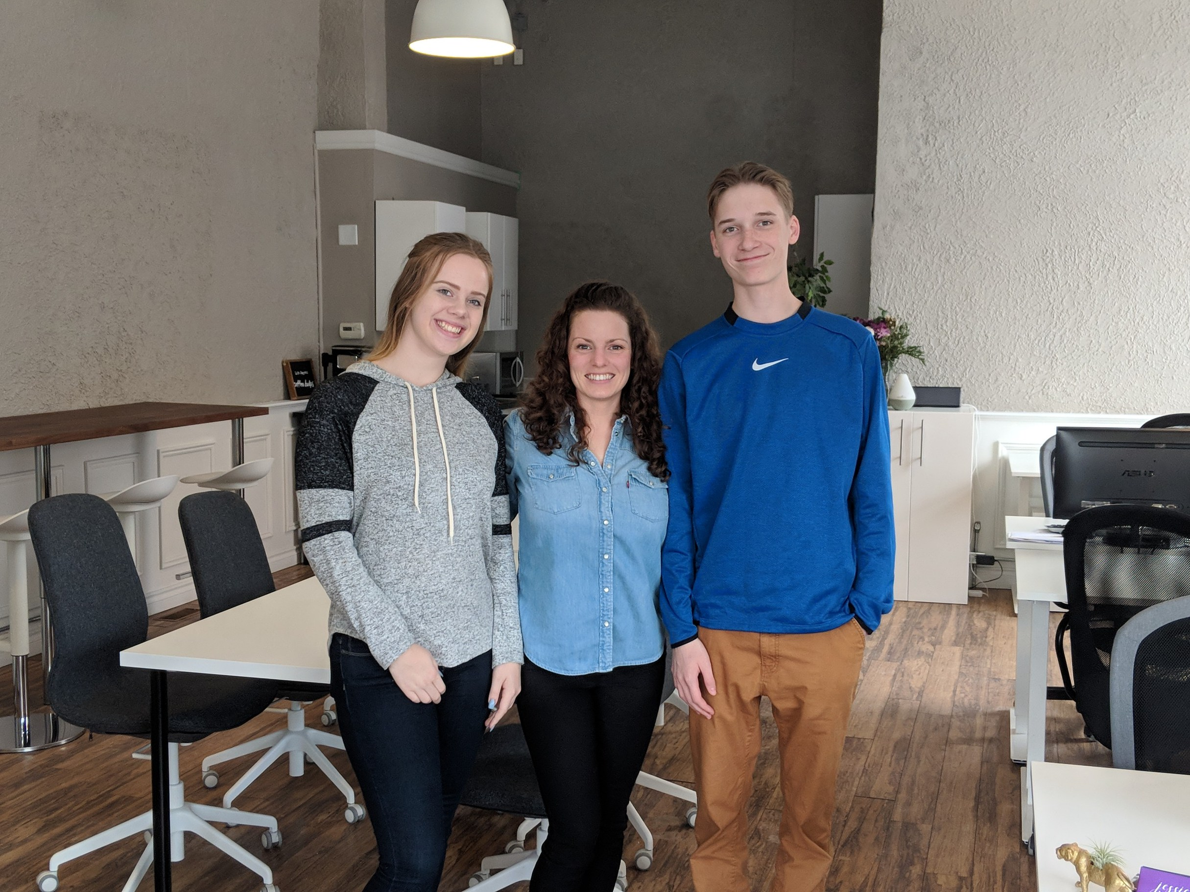 Some good news on Norfolk Street South in downtown Simcoe: first, the charitable organization Indwell has purchased the Norfolk Inn site, and plans to redevelop the property into affordable accommodation units; second, Jenn and Alex stopped by recently to visit Jess Bommarito, who has just opened 'Groundswell Coworking', which provides spaces for innovators and entrepreneurs to work together.