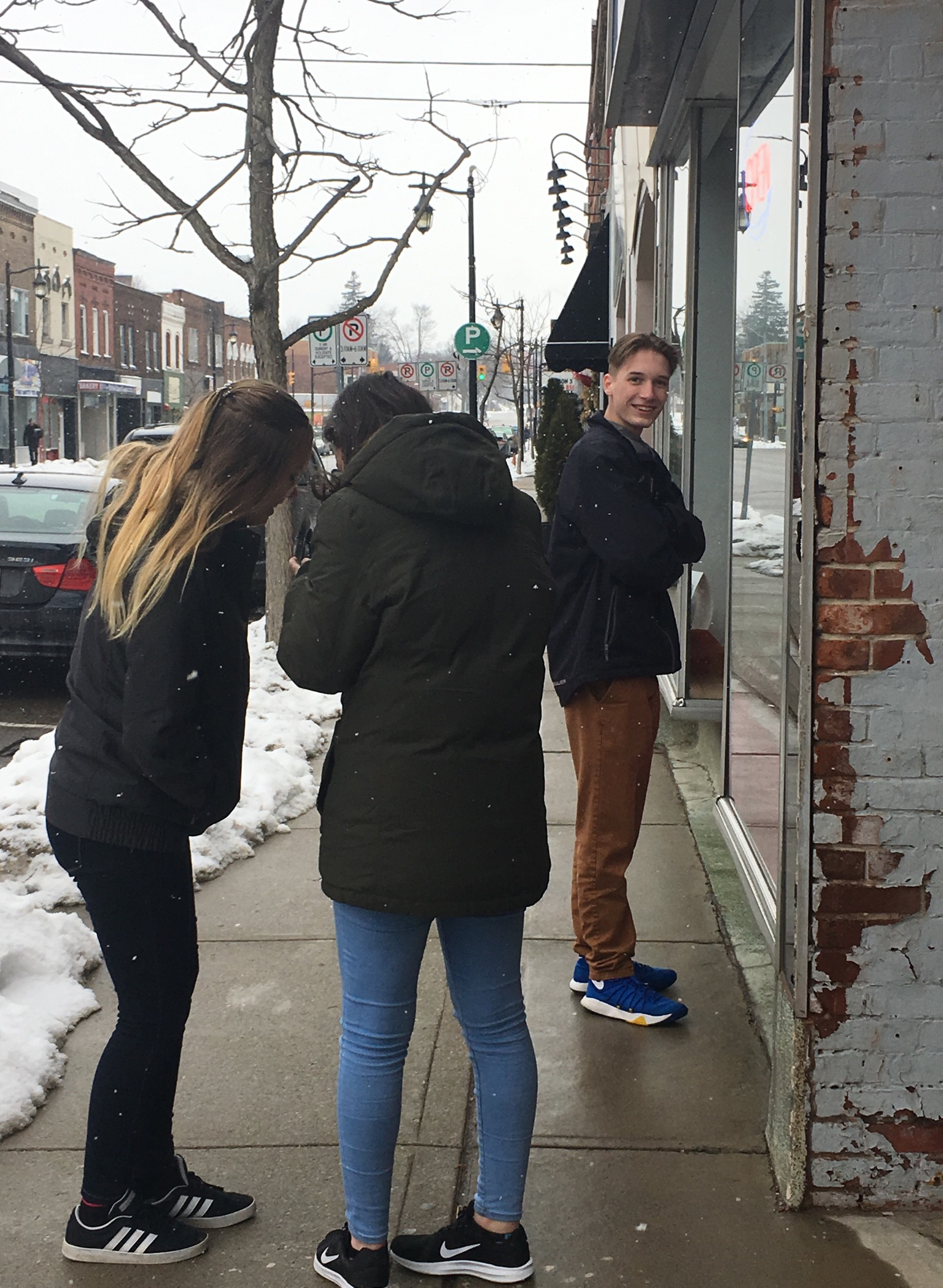 Jenn, Emily and Alex recently in downtown Simcoe … we are fans of the idea of 'psychogeography', which refers to the art of exploring cities, towns and neighbourhoods by walking without a defined aim. Check out the book  Psychogeography  by Merlin Coverley for an interesting overview.