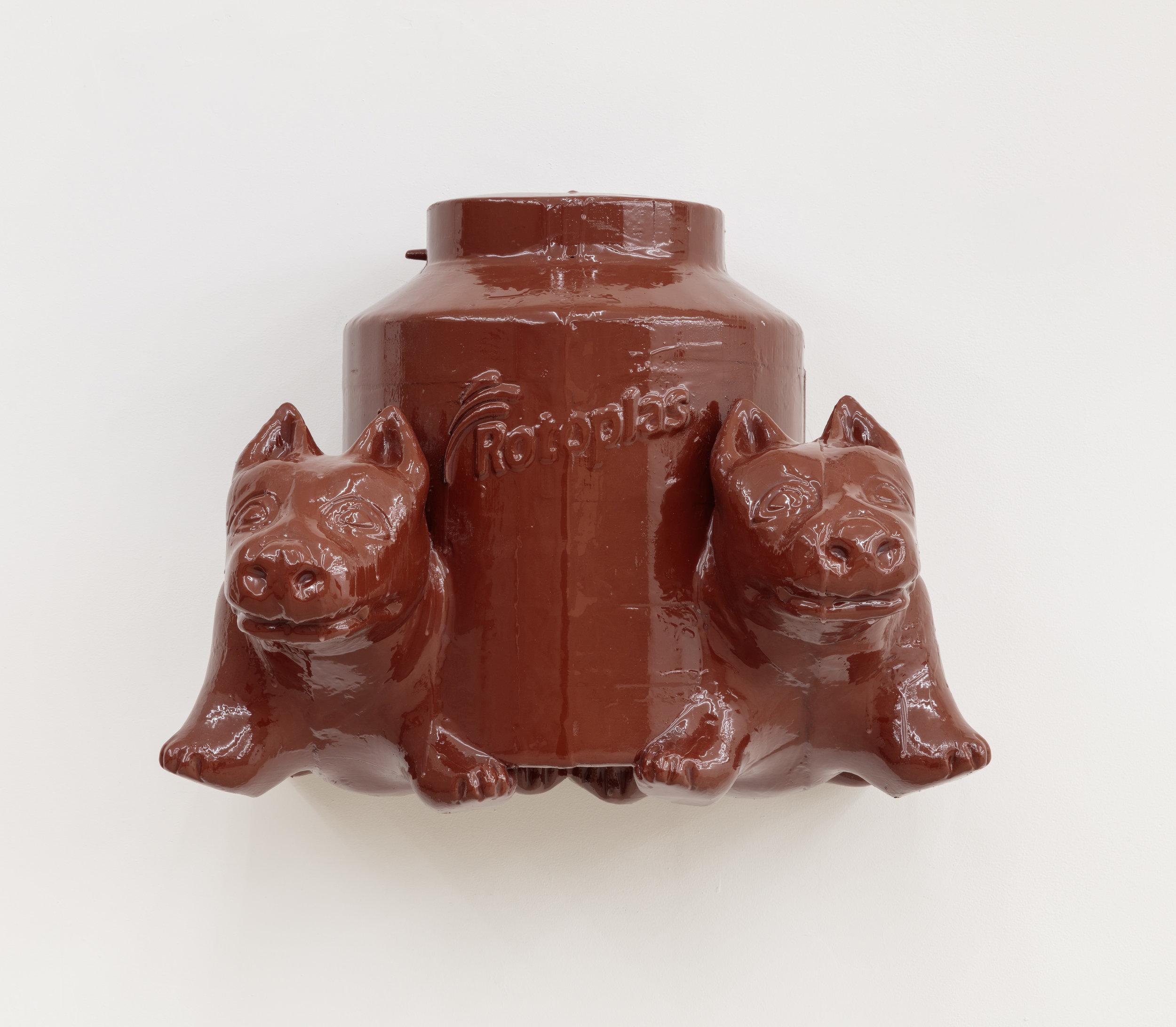 Perros Gamelos de Colima, Thermoplastic, auto primer, epoxy resin, 2018