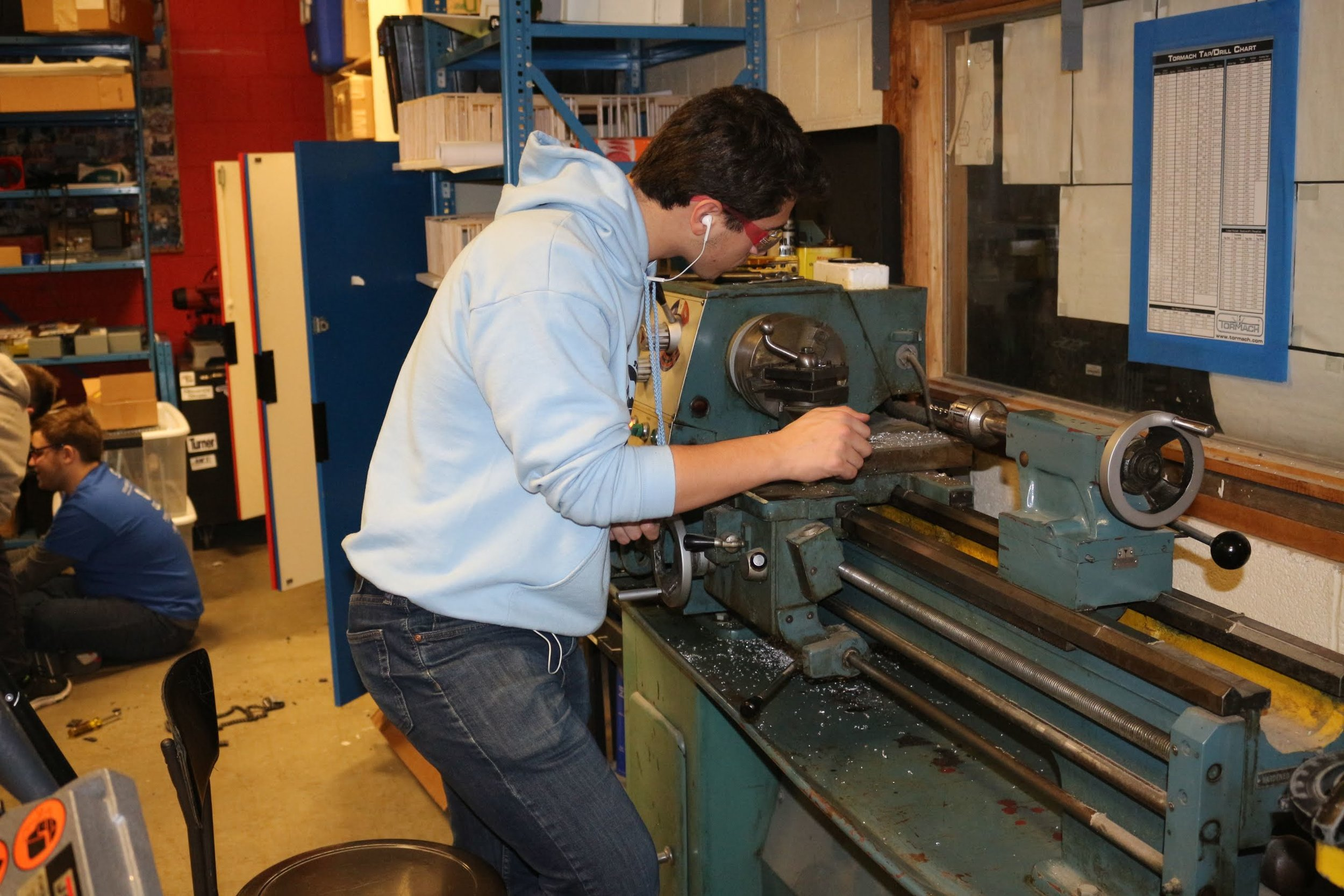 - We still use the metal lathe that was in the shop back in 1974 when the school was built. (Mr. Kissane was a freshman at AHS in 1974 and used this lathe then)