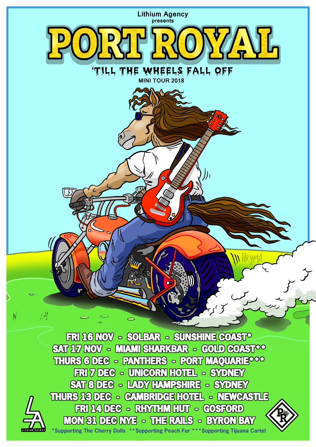 The 'Till the Wheels Fall Off' Mini Tour - Nov to Dec 2018