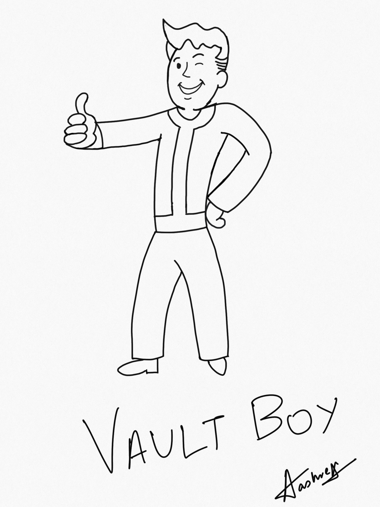 Vault Boy from Fallout