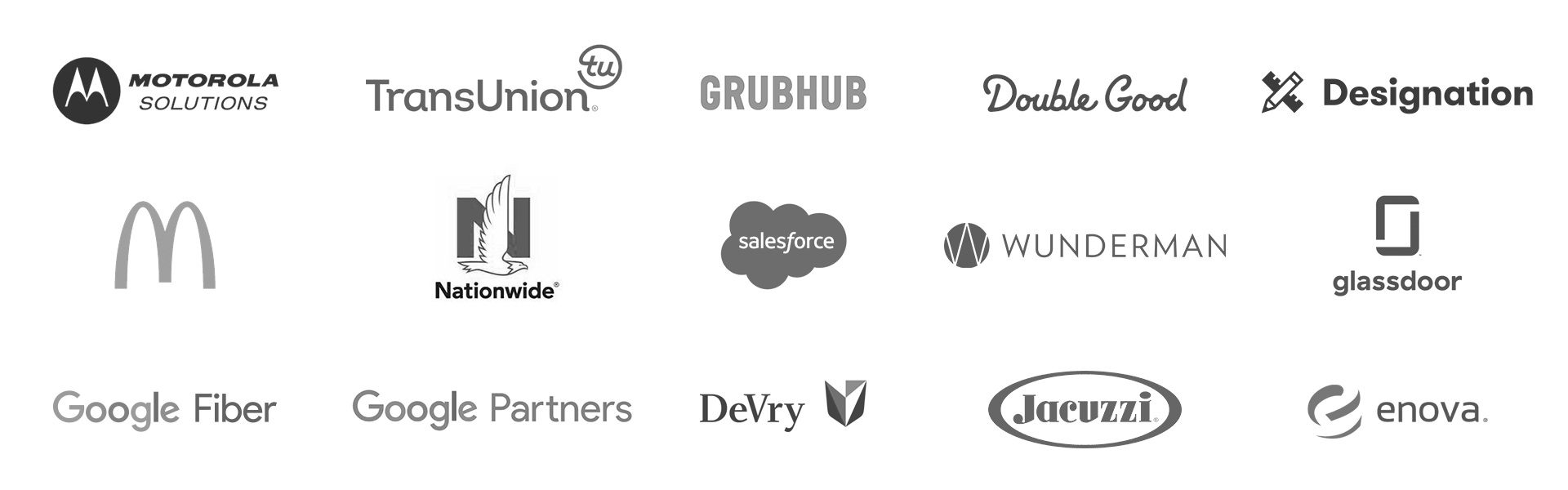 Grid of companies I have worked for or with.