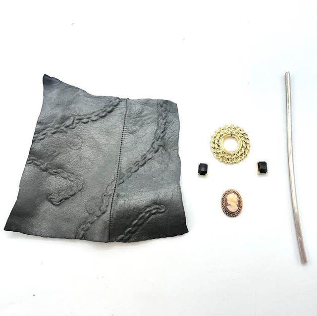 More sneak peaks from our RJM Artist Project members, this time from @zina336. Jina Seo utilizes found leather in her work and has found a way to incorporate it in to her RJM designs! We can't wait to see what these parts turn in to for #SparklePlenty14 @quirk_gallery!!! 💗💕💗 #RadicalJewelryMakeover #RJMArtistProject #SparklePlenty #makeitethical #ethicalmetalsmiths #emstudents #snagmember #ajfishere @radicaljewelrymakeover @ethicalmetalsmiths @emstudents @quirkhotelrva