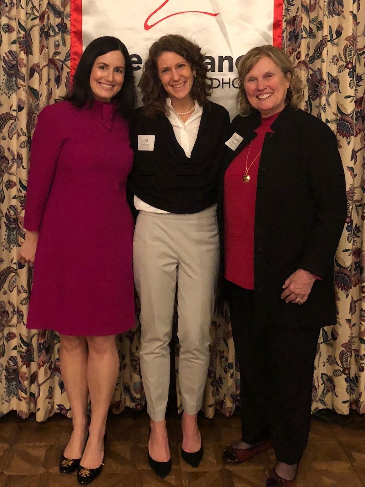 Stefanie Maiuri (Current Executive Director), Liza Sullivan (former Executive Director), and Blakely Bundy (Executive Director Emeritus).