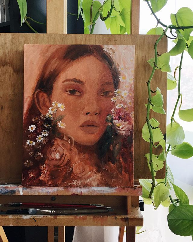 almost there, a twin for my sepia girl 😊 #wip #oilpainting #art