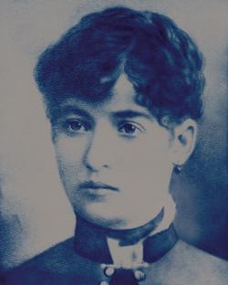 Rosa,  cyanotype of 19th Century photograph