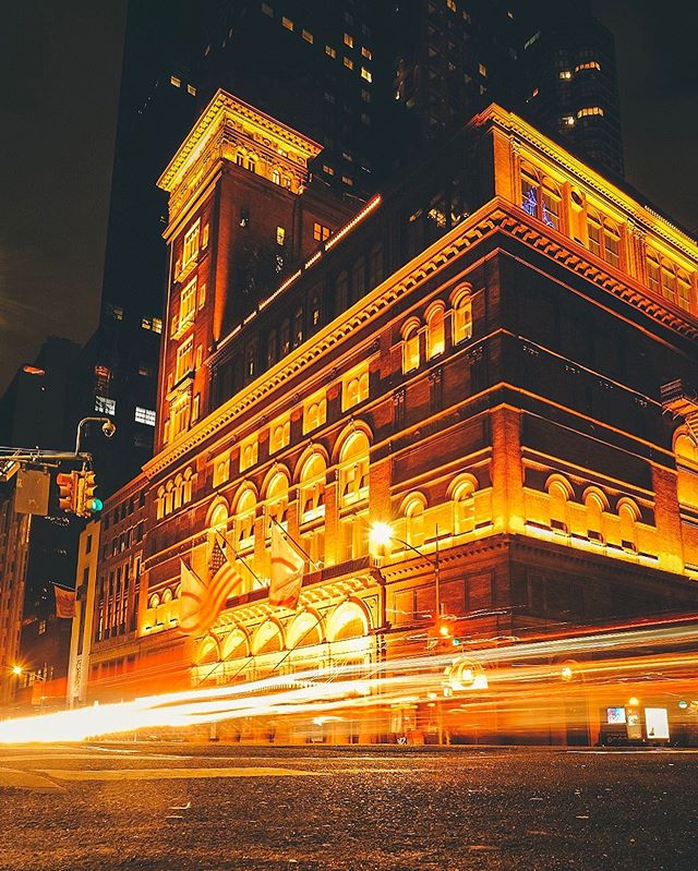 When ever we are in New Yorki feel myself drawn to @carnegiehall its one of my favorite palaces. . . #worldphotographyday  #newyork #citykillerz #ig_shotz #citykillerz #ig_color #longexposure #visualambassadors #artofvisuals #city_features #citygrammers #citygram #moody #moodyports #moodygram #optimalmoments #cityscapes #heatercentral #goldenhour #createexplore #street_photography #ourmoodydays #illgrammers #unseencreatives #beautifulportrait #ig_tones #nightshooterz #agameofportraits #carnegiehall #fujilove #theimaged