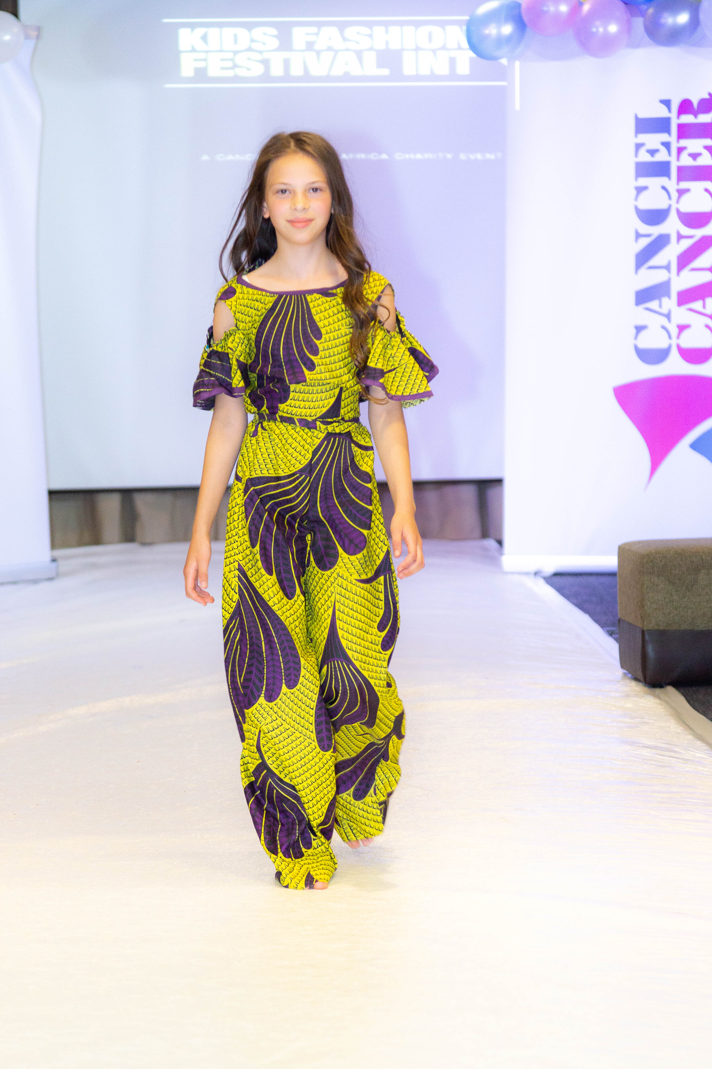 """Modelling for """"Cancel Cancer Africa Collection"""" at The Cancel Cancer Africa Fashion Festival"""