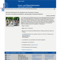 Mit dem Rad durch die Standorte des European Campus - Uni Freiburg, 23.05.2018