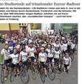 120 Studierende auf Trinationaler Radtour - Badische Zeitung, 12.06.2017