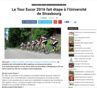 Le Tour Eucor 2016 fait étape à l'Université de Strasbourg - Stras Actu, 16.05.2016