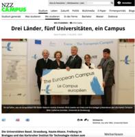 Drei Länder, fünf Universitäten, ein Campus - NZZ Campus, 11.05.2016