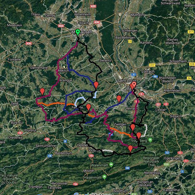 Nach 127 bis 193km auf dem Rad wartet auf alle eine erfrischende Abkühlung im Rhein in Basel. Highlight des Tages heute ist der Scheltenpass im Schweizer Jura! || Après 127 à 193 km à vélo, une baignade rafraîchissante dans le Rhin vous attend à Bâle. Le col de l'Escaut dans le Jura suisse est le point culminant de la journée d'aujourd'hui!  #toureucor #tag3 #muba