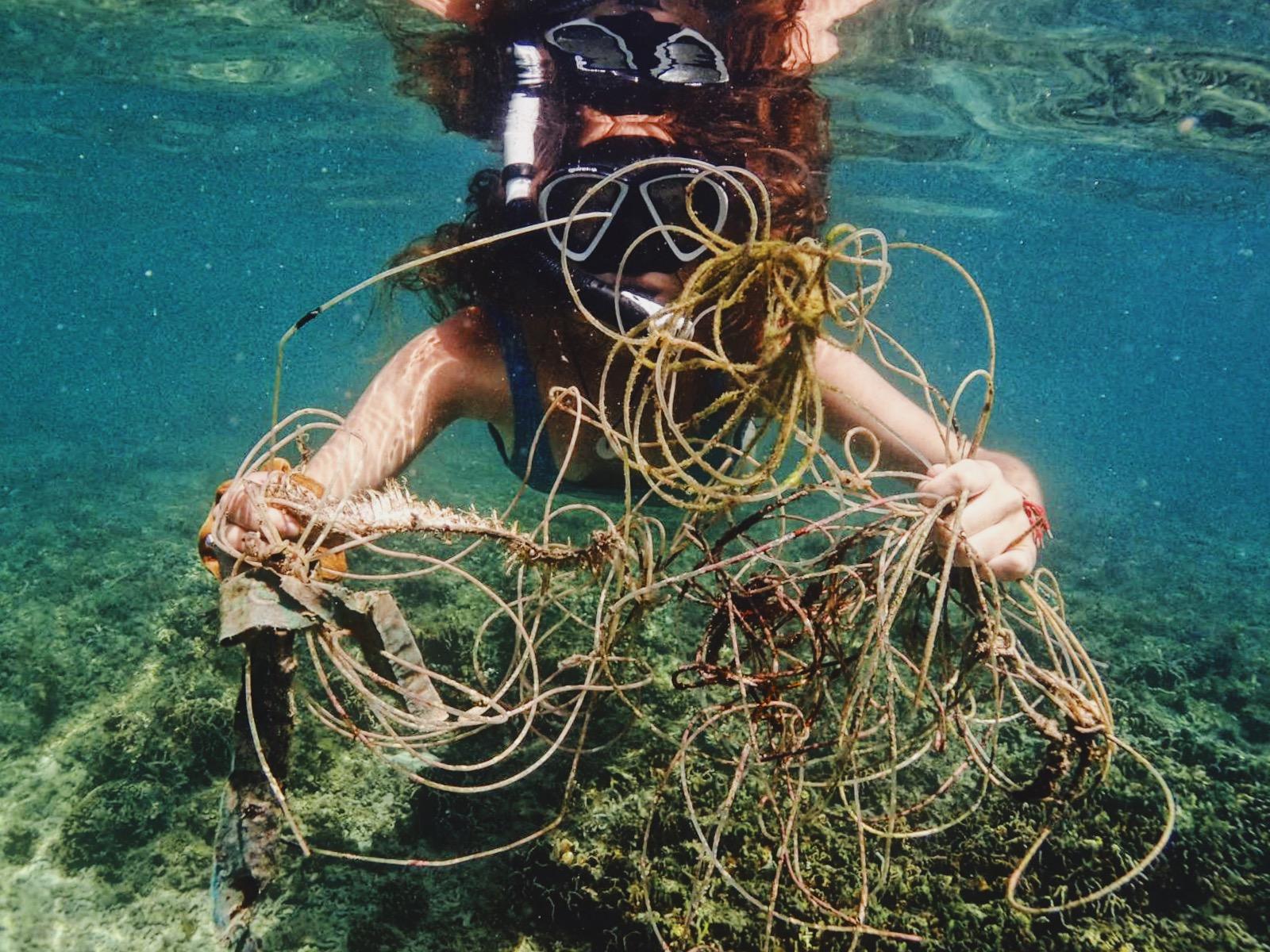 Reef clean on the Virgin Islands