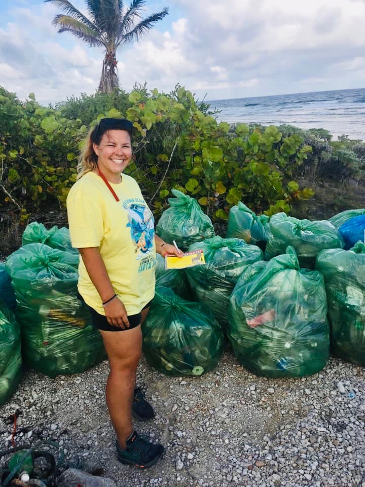 A glimpse of the 1354.4lbs of plastic Tamara helped to remove from the shores of Little Cayman.