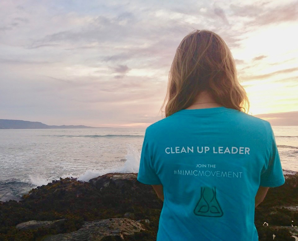 GOS Lead Ambassador Nicola Kennedy at her cleanup location in Wollongong, Australia (image:  @nicciandthenautilus )