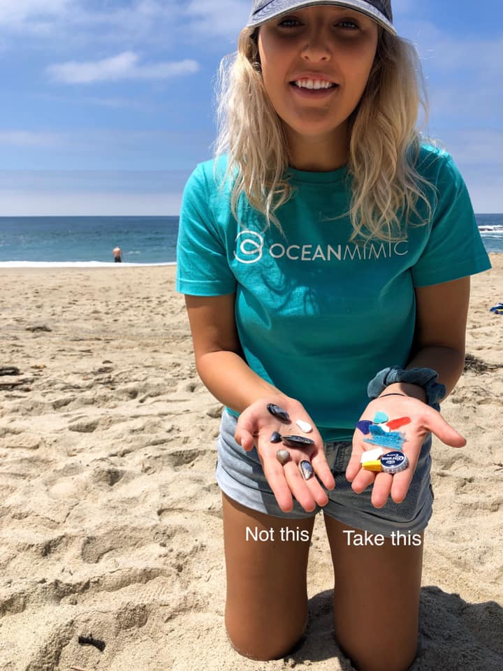 GOS Lead Ambassador Kaysha Kenney at her cleanup location in California, USA. Kaysha's trash was mainly composed of microplastics with a whole load of styrofoam. Remember, when visiting your beaches only take what should not be there in the first place. (photo:    @kayshakenney   )