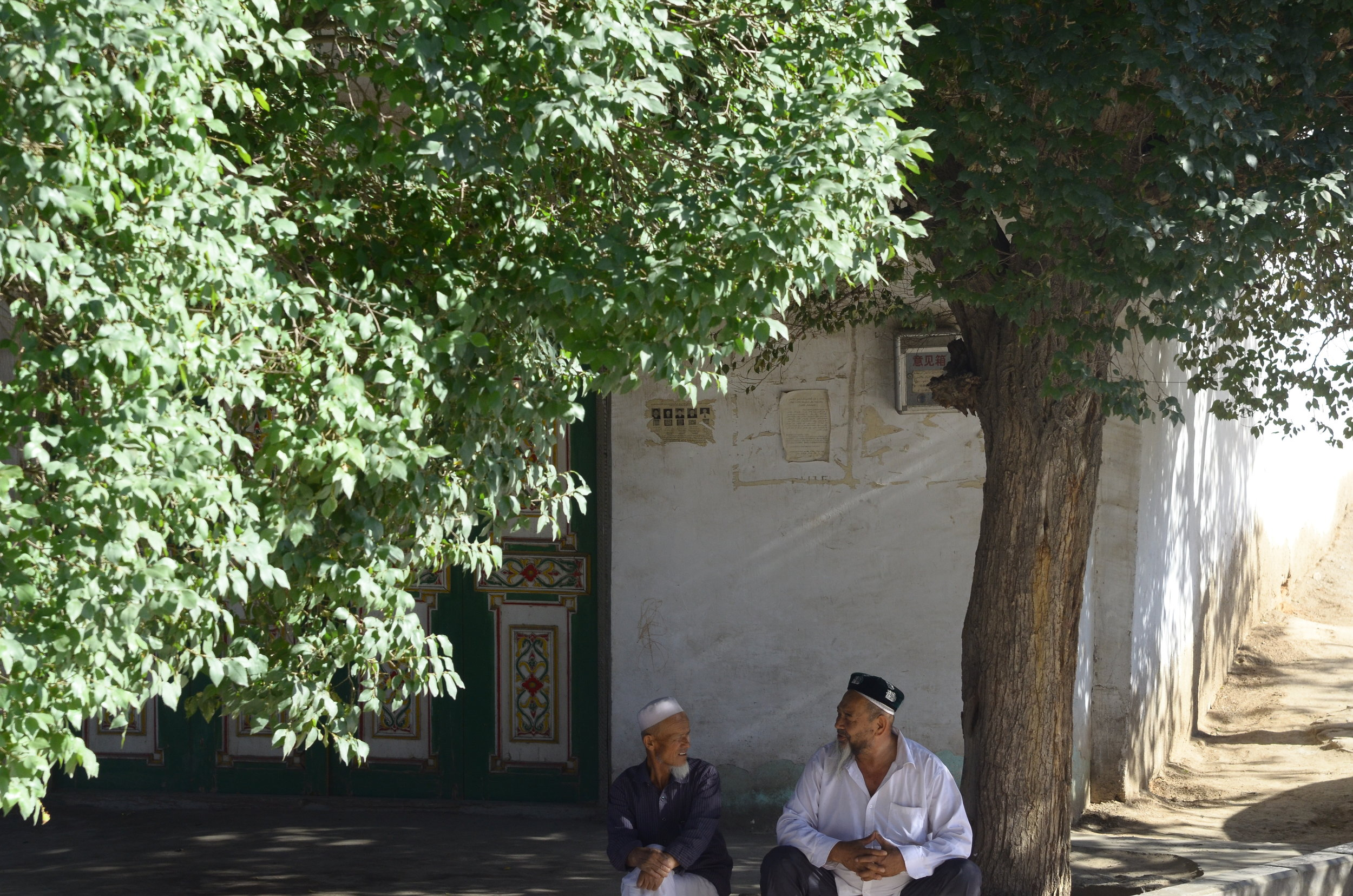 (  Photography  ) Old friends by the mosque, China, 2017