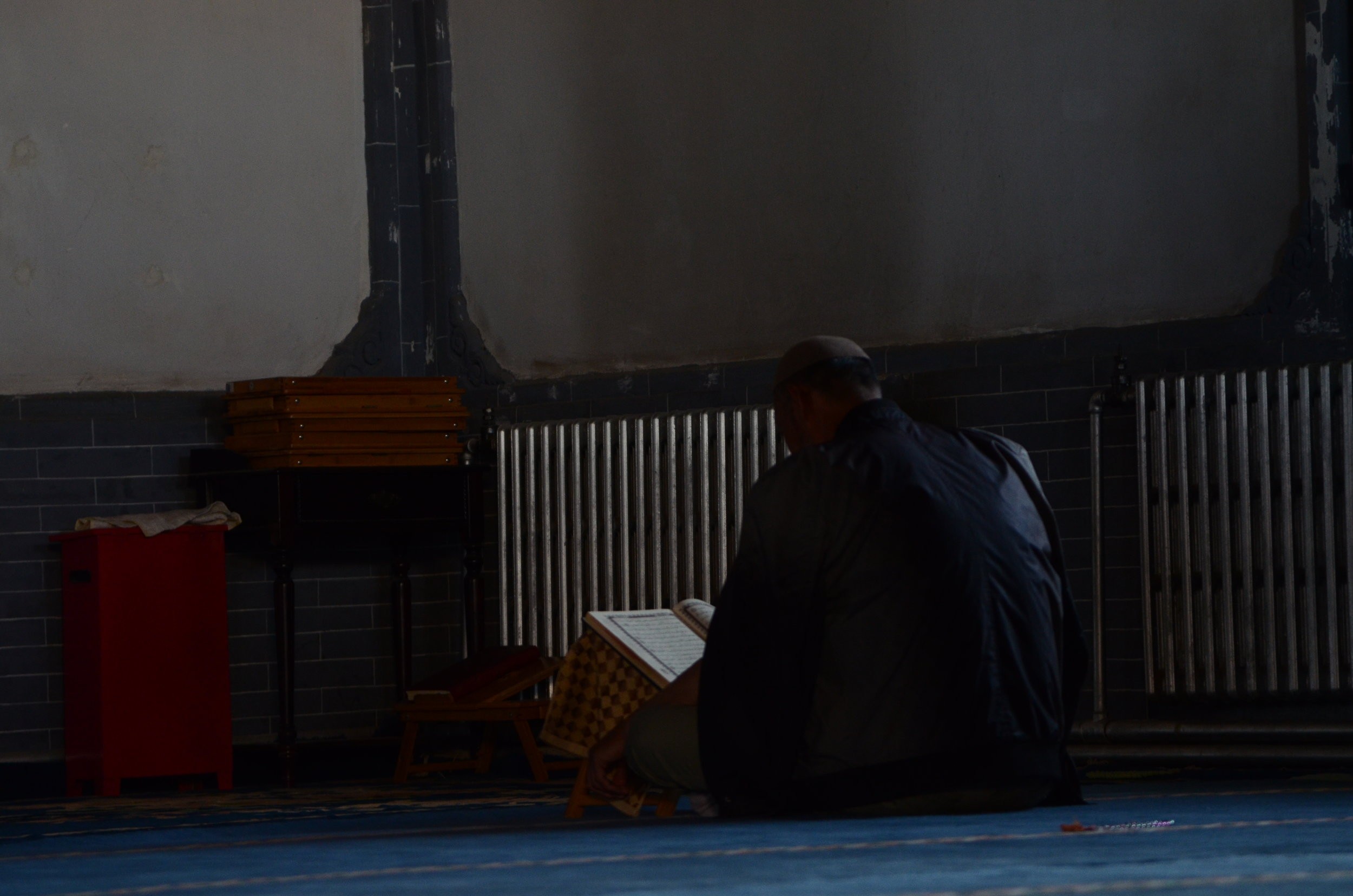 (  Photography  ) Man at the Mosque, 2016.