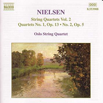 Carl Nielsen: String quartets VOL.2 - Oslo String QuartetRecorded in Ris Church in Oslo May 1998 by Morten LindbergProducer: Krzysztof DrabBuy from iTunesNAXOS 8.553908.