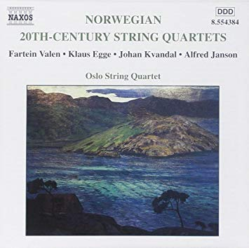 Norwegian 20th-cent. String quartets - Oslo String Quartet.Kvandal, Janson, Egge and Valen.Recorded in Sofienberg Church in Oslo December 1995 by Morten Lindberg. Producer: Sean Lewis. Released 2000Buy form iTunesNAXOS 8.554384.