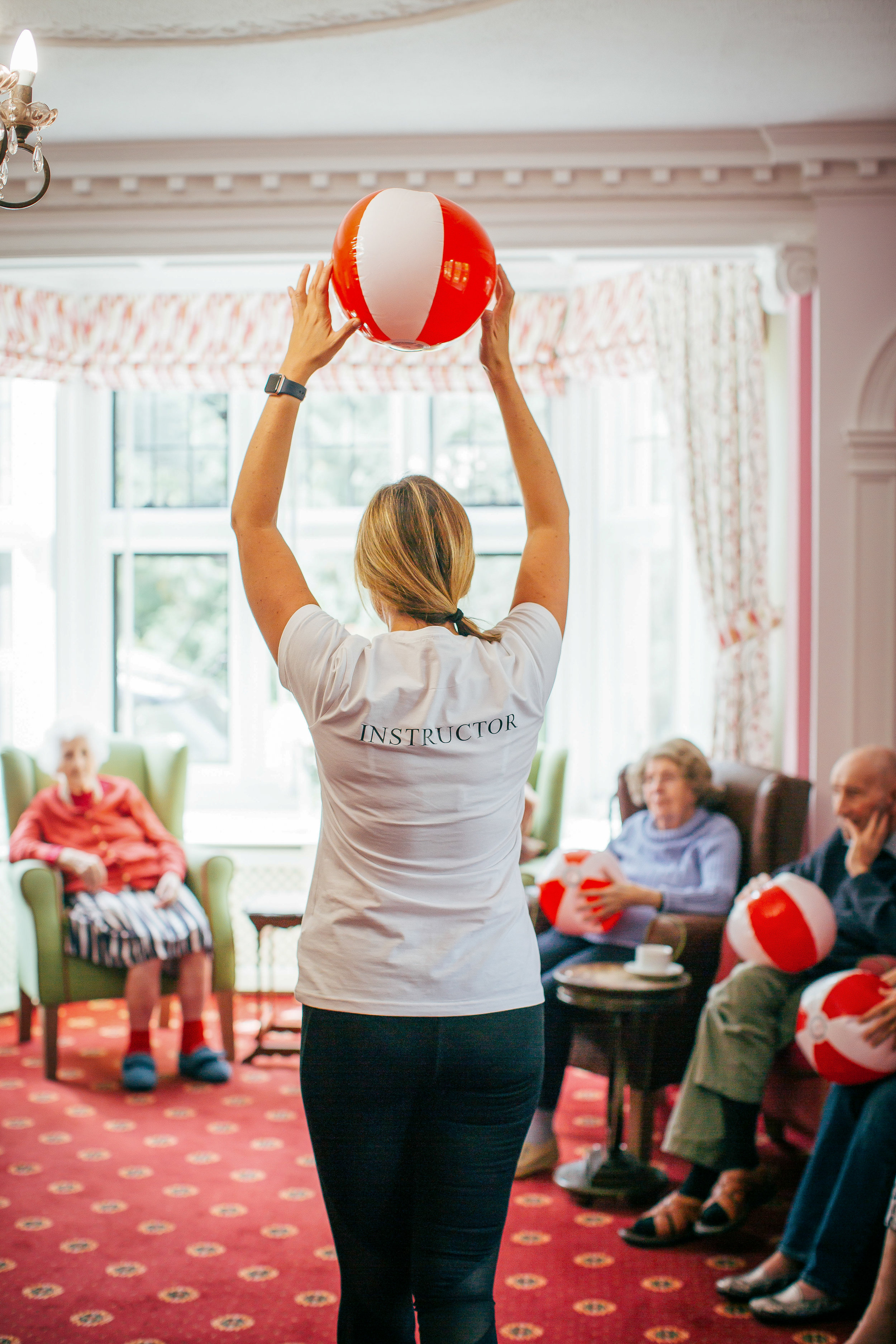 elderly, fitness, care home,