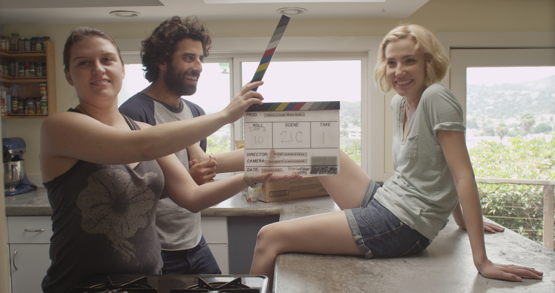 Jenni Melear and Karim Saleh behind the scenes, Yellow Valley