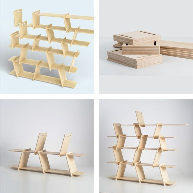 Italic shelf - Assemble, disassemble, reassemble. Easy, fast, no tools. fit-furniture.com #fitfurniture #furniture #design #interiordesign #DIY #furnituredesign #opendesign #berlin #contemporaryfurniture #shelf #plywood #cnc #ronenkadushin #simple #flatpack #contemporarydesign #onlineshop #minimalist #sculptoral #minimalistfurniture #minimalism