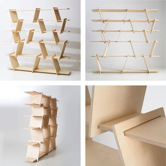 A minimalist piece with a sculptural presence. The Italic shelf in birch plywood. Part of the flat pack, easy assembly, Italic family. Designed by Ronen Kadushin  #fitfurniture #furniture #design #interiordesign #DIY #furnituredesign #opendesign #berlin #contemporaryfurniture #shelf #plywood #cnc #ronenkadushin #simple #flatpack #contemporarydesign #onlineshop #minimalist #sculptoral #minimalistfurniture #minimalism #milandesignweek #milanogram2019 #assembly