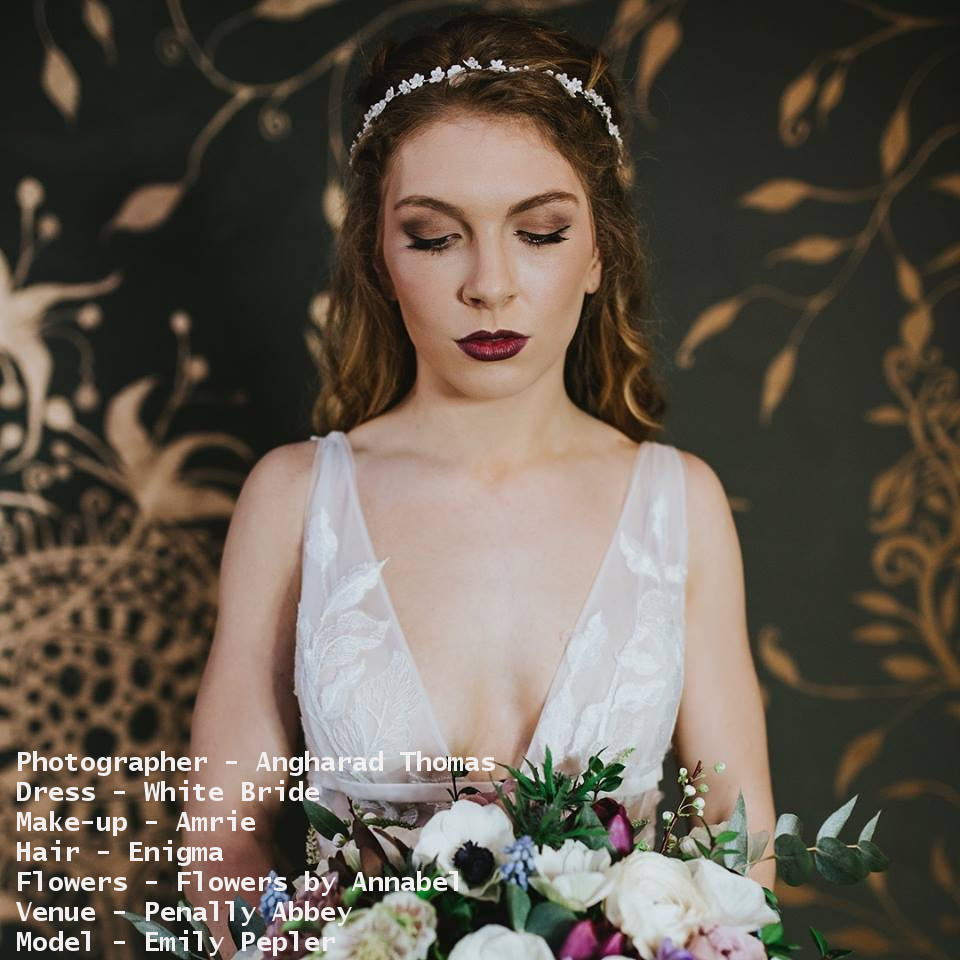 Amrie - We have worked with Amrie countless of times, from photoshoots and real white brides to wedding fayres. Amrie works her magic to create the perfect bridal look for you.