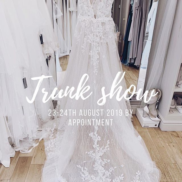 BLUE BY ENZOANI• Trunk show is our next exciting event at White Bride- by appointment we will have lots of the most beautiful dresses from @enzoani 2019 collection PLUS we will have received new  2020 gowns to try! Please DM for remaining appointments 💕 #whitebridewales #bridalboutiquenarberth #visitnarberth #Narberth #Pembrokeshirebrides #Carmarthenbrides #Ceredigeonbrides #specialday #luxebride #specialshop #gowns #2020 #2019
