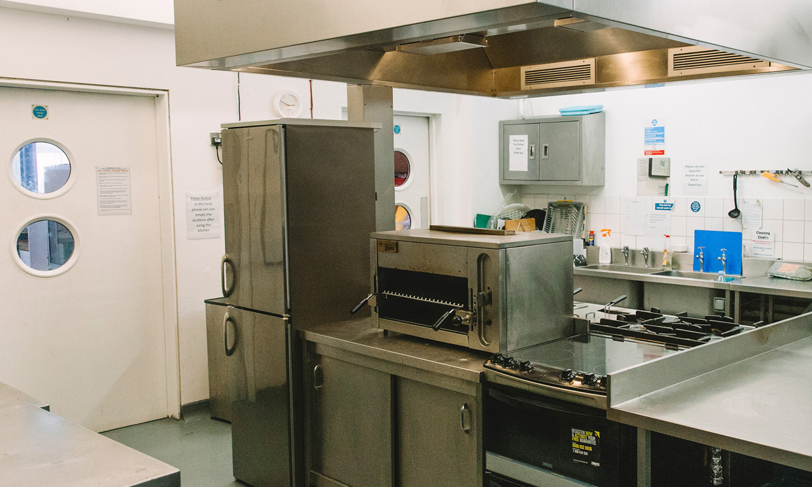 The Kitchen - You can hire our large kitchen to hold a cookery class, prepare meals for your events yourself or even invite in your favourite local caterers.