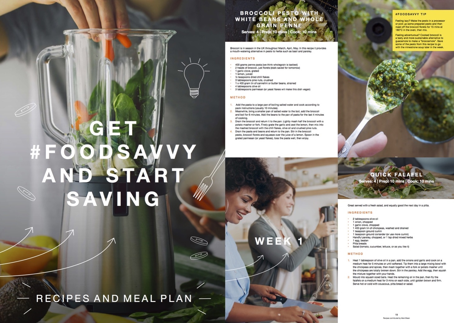 Get #FoodSavvy with our three week meal plan - Healthy, delicious and inexpensive meals designed to help you reduce food waste.
