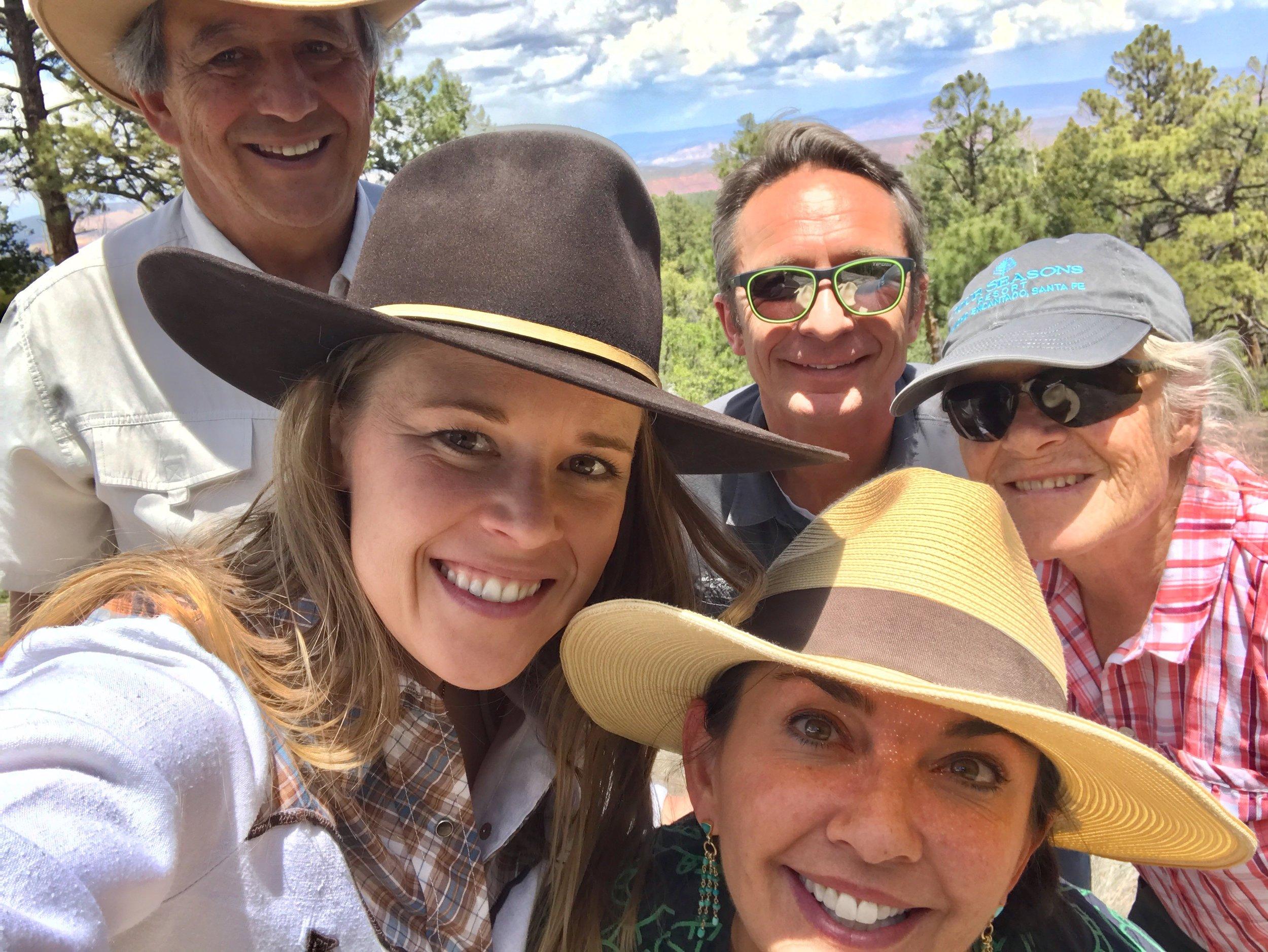 Friends from  The Four Seasons Resort Rancho Encantado Santa Fe  visiting Resolana Farms, 2019.
