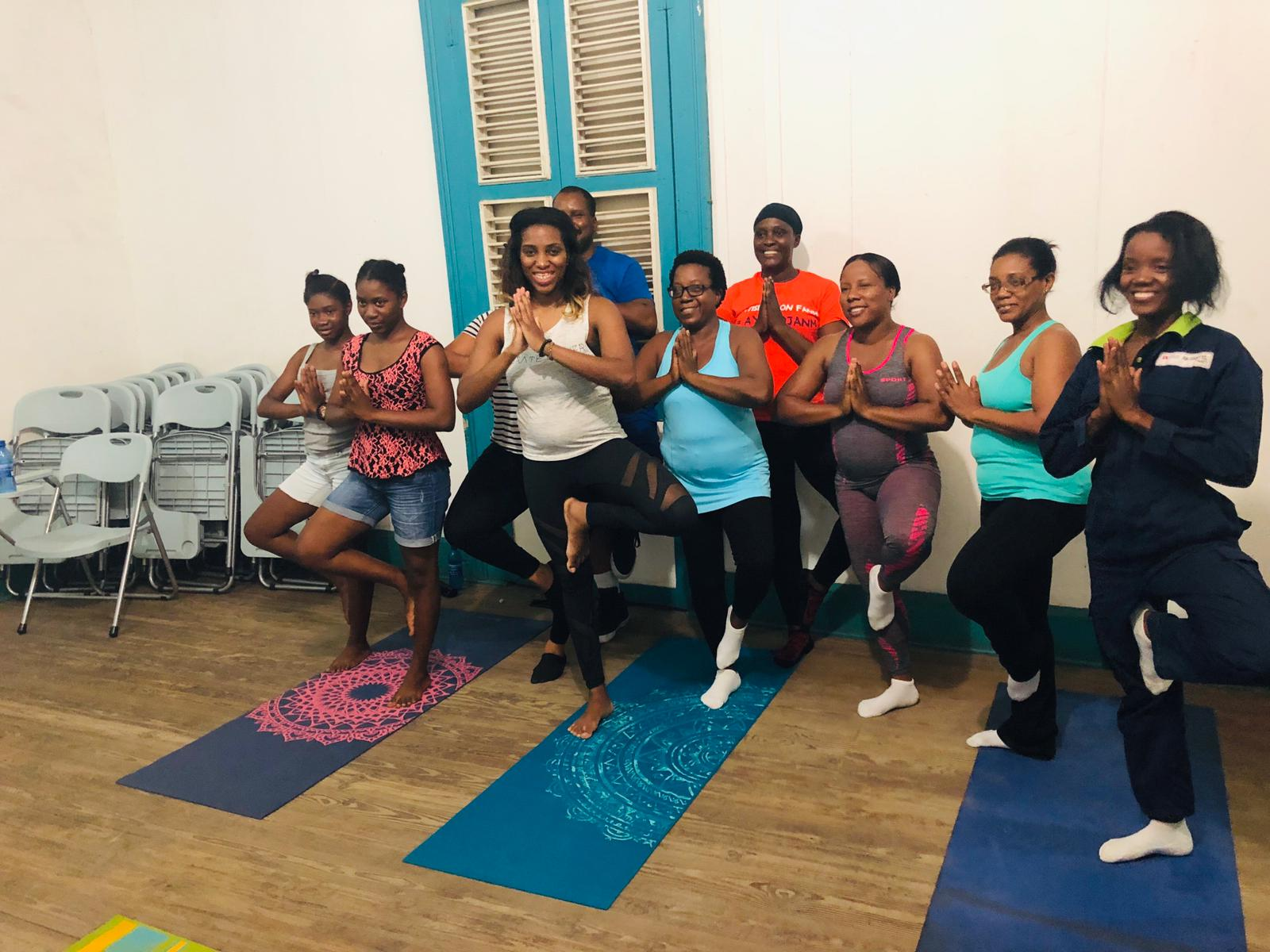 Free Yoga Class led by Vibrate Higher foundation In Cap Haitian, Haiti