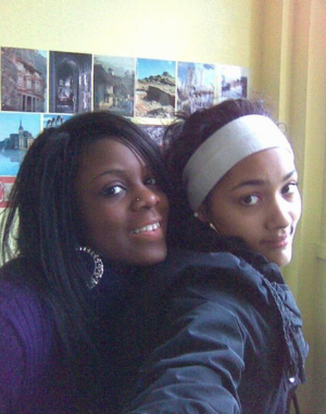 Jade (right) Symone (left) sometime in 2008
