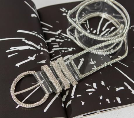 Transparent diamonte belt